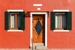 Colorful house in Burano. Island near Venice Royalty Free Stock Images