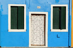 Colorful house in Burano. Island near Venice Stock Image