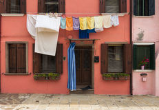 Colorful house of Burano Island, Venice, Italy Royalty Free Stock Image