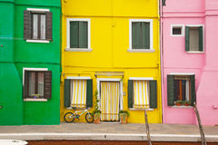 Colorful house at Burano, Venice Royalty Free Stock Images