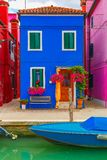 Colorful house on the Burano, Venice, Italy Stock Image