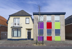 Colorful house. In enschede, netherlands royalty free stock photos