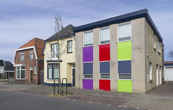 Colorful house. In enschede, netherlands Royalty Free Stock Photo