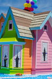 Colorful house float in a parade Stock Images