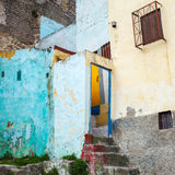 Colorful house fragment in old Medina Royalty Free Stock Image