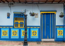Colorful House - Guatape, Colombia Stock Images