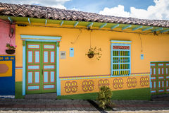 Colorful House - Guatape, Colombia Royalty Free Stock Image