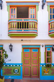 Colorful House - Guatape, Colombia Royalty Free Stock Photos