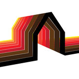 Colorful house/home symbol illustration Stock Photo