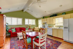 Colorful house interior in old house Stock Images