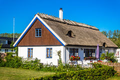 Colorful house in  Kaseberga Stock Photography