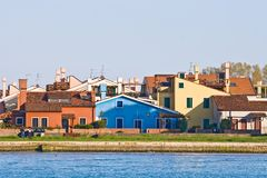 Colorful house at Lido Island Stock Photography