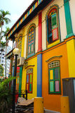 Colorful house, little indian Singapore Stock Image