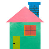 Colorful house made form clay Royalty Free Stock Image