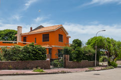 Colorful house in Montevideo, Uruguay Royalty Free Stock Image