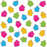 Colorful house pattern design Stock Images