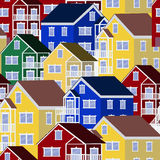 Colorful house pattern Royalty Free Stock Photo