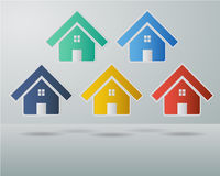 Colorful House ,Realestate Icon Stock Image