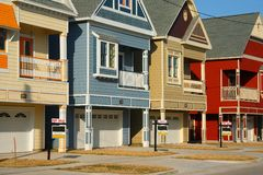 Colorful house for sale Royalty Free Stock Images