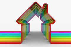 Colorful house shapes Royalty Free Stock Images