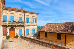 Colorful house in small italian town. Stock Images