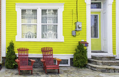 Colorful House in St. John's, Newfoundland royalty free stock images