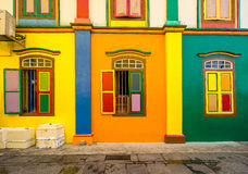 Colorful House of Tan Teng Niah in Little India, Singapore Stock Images