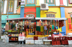 The colorful house of Tan Teng Niah in Singapore's Little India Stock Photo