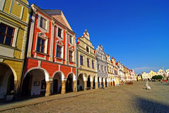 Colorful house in Telc Royalty Free Stock Photo