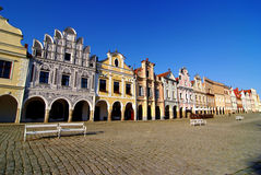 Colorful house in Telc Stock Photography