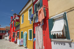 Colorful house in Venice, Italy. Stock Images