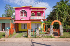 Colorful house in Vinales Royalty Free Stock Image