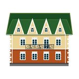 Colorful house on a white background. vector. stock illustration