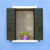 Colorful house window in Burano Royalty Free Stock Photo