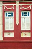 Colorful house and windows. Old house, Front of colonial house. Areia city, Paraiba, Brazil royalty free stock image