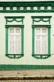Colorful house and windows. Old house, Front of colonial house. Areia city, Paraiba, Brazil stock photos