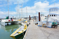 Colorful houseboats in Sausalito California Stock Photo