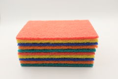Colorful household cleaning sponge for cleaning Stock Photos