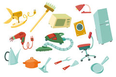 Colorful household items 2 Stock Image