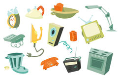 Colorful household items 1. Colorful isolated vector household items Royalty Free Illustration