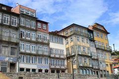 Colorful houses. In Porto, Portugal stock photography