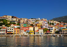 Colorful houses. In Greece,look from the sea Stock Image