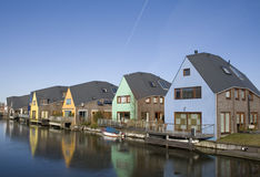 Colorful Houses. In Almere, Netherlands royalty free stock images