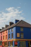 Colorful houses. Brightly colored houses in village of Llanberis, Gwynedd, Wales Royalty Free Stock Images