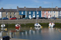 Colorful houses Aberaeron. Royalty Free Stock Image