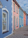 Colorful houses in Aberaeron, Wales Stock Images