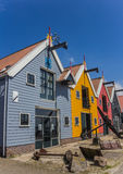 Colorful houses against a bright blue sky Royalty Free Stock Photo