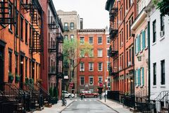 Free Colorful Houses Along Gay Street In The West Village, Manhattan, New York City Royalty Free Stock Photography - 147171427