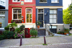 Colorful houses in Amsterdam Stock Image