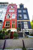 Colorful houses in Amsterdam Stock Photography